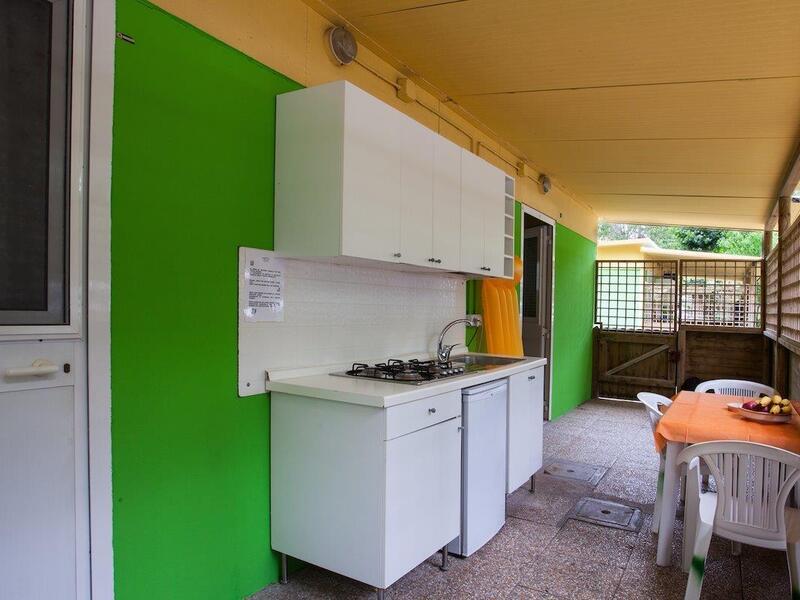 Angolo Cottura In Veranda : Mobilehome a rimini un soggiorno immerso nella natura nel
