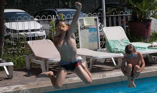 Swimming pool at the hotel in Rimini