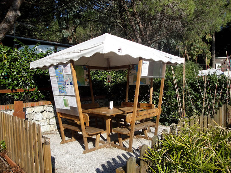 Holiday village in Sestri Levante. Camping site with bungalows with ...