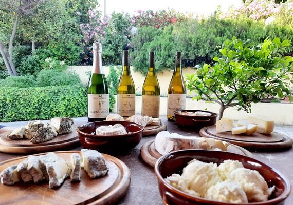 Whites and Goat Cheeses