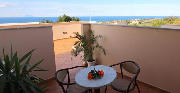 Superior sea side room hotel Tropea