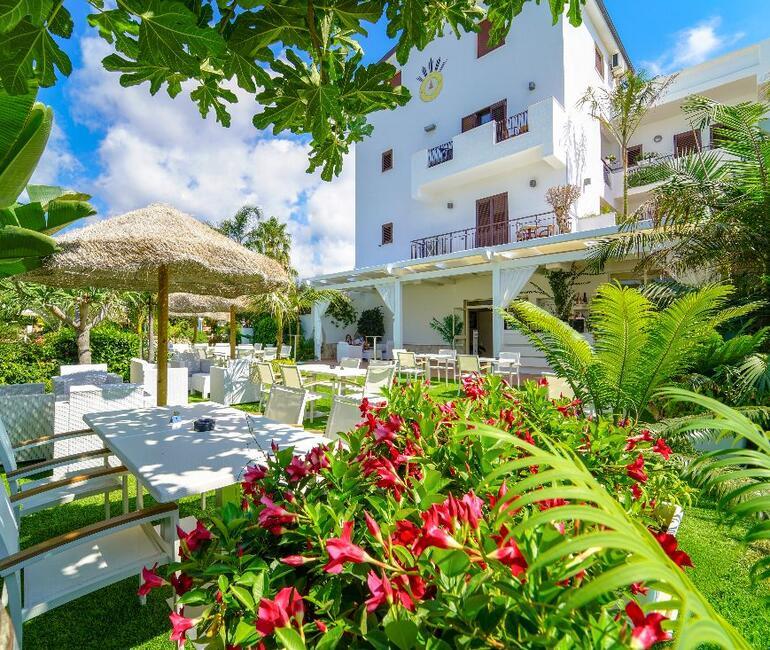 Garten Hotel La Bussola Tropea Kalabrien