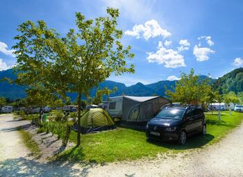 Big pitch with water drainage Lago Levico Camping Village