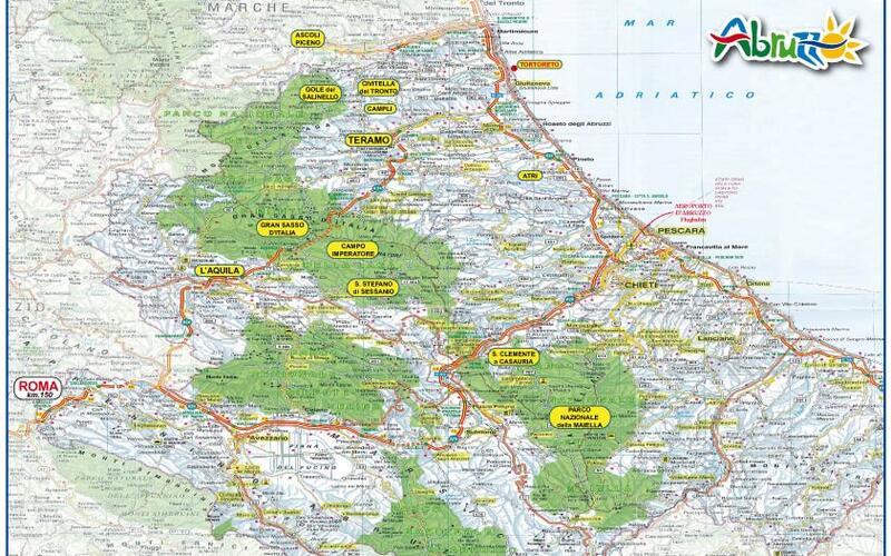 Mappa Regione Abruzzo